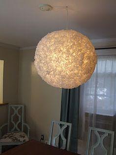 My inexpensive DIY chandelier