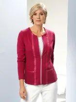 Red Leather, Leather Jacket, Sweaters, Jackets, Fashion, Studded Leather Jacket, Down Jackets, Moda, Leather Jackets