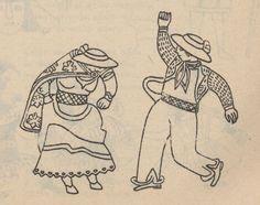 Representación de una pareja en la danza de la muliza