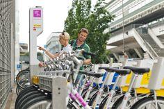 PubliBike): Veloverleihsysteme gibt es bereits in einigen Schweizer Städten: unter anderem in Luzern.