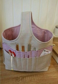 Knitting Bag Project Ideas 40 New Ideas Stricken ist so einfach wie 1 2 3 D Sewing Hacks, Sewing Tutorials, Sewing Crafts, Sewing Patterns, Knitting Projects, Sewing Projects, Diy Knitting Bag, Knitting Ideas, Simple Knitting