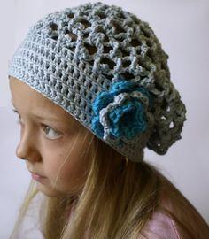 Ravelry: 0031 crochet beret with flower pattern by Petra Kotrysova