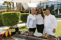 Serena & Celebrity Chef Silvena Rowe .... World #1 Serena Williams had a very exciting experience at the Dubai Duty Free Tennis Championships, meeting celebrity Chef Silvena Rowe, joining forces with her for Dubai's first 'Gastronomy Grand Slam' - and Chef Rowe was just as excited to meet her 'ultimate idol'. - 2/20/14