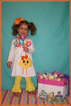 Easter Chick Dress ... Girls Easter Clothing