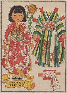 Vintage Japanese paper doll