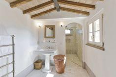 A Tuscan bathroom at our villa, Maremma.