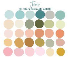Cool Color Palette, Color Schemes Colour Palettes, Palette Art, Pastel Colour Palette, Color Trends, Pastel Colors, Summer Color Palettes, Beach Color Schemes, Vintage Color Schemes