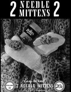Two Needle Mittens | Volume 91 | Doreen Knitting Books