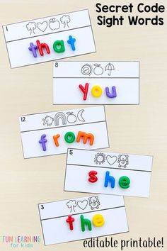 Editable Sight Word Games That Are Super FUN Sightwords Sightwordactivities Wordwork