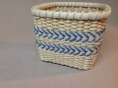 Square Hand Woven Basket with Unique Woven Base by DiannesBaskets, $32.00