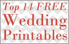 Free printables for wedding
