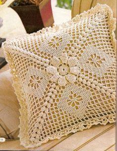 Crochet pads with background graphics Crochet Squares, Crochet Granny, Filet Crochet, Crochet Motif, Crochet Doilies, Crochet Patterns, Crochet Home, Love Crochet, Beautiful Crochet