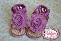 Sandalias de bebé ganchillo zapatos de bebé por MelsDesignBoutique