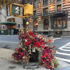 Amber Nausheen : #AmberNausheen Photo by @lewismillerdesign After finishing big events florist Lewis Miller (@lewismillerdesign) often found himself wondering: How else could he reuse all these flowers? I was walking down the street one day and I saw a typical New York City trash can overflowing with garbage and spilling onto the sidewalk says Lewis whos run his floral business for 15 years. And I thought wouldnt it be fun if that were all flowers? So the #flowerflash was born and in the wee…