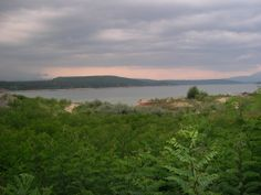 artificial lake in kazanlak, bulgaria. an ancient city to be excavated here soon (Seuthopolis project)