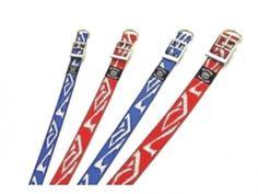 ARAB Hundehalsband aus Nylon 45 cm rot weiß