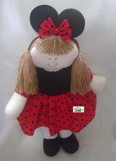 Boneca Ratinha ou Minnie, para decoração.