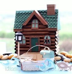 """""""Dad's Cabin"""" gift box, Silhouette Cameo project"""