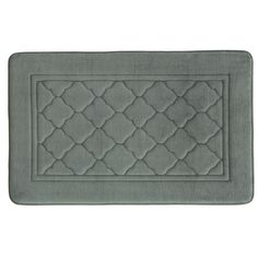 Bacova Florence Antimicrobial Memory Foam Bath Rug - 20'' x 32'', Grey