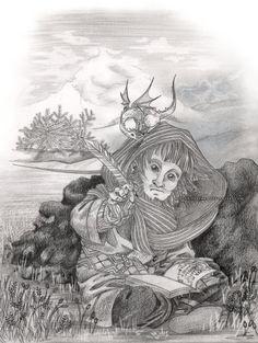 Ori by Milena-Zaremba  http://milena-zaremba.deviantart.com/ https://www.instagram.com/milena.zaremba/ https://www.facebook.com/MilenaZarembaArt http://milena-zaremba.tumblr.com/  #artwork #fantasy #fanart #hobbit #tolkien #pencil #dragon #dwarf #book #literature #epic #writing #traditional #art