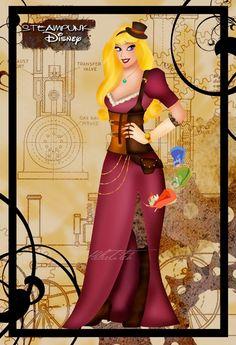 Steampunk Aurora (by HelleeTitch)
