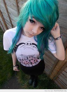 Fay Ferocity - Heart Our Style - fay ferocity scene kid emo punk blue hair