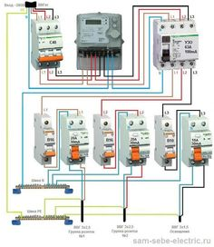 Electrical Diagram, Electrical Work, Electrical Installation, Electrical Engineering, Ac Wiring, House Wiring, Home Engineering, Flat Plan, Distribution Board