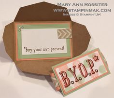 BYOP Gift Card Envelope