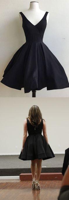 little black dress, 2017 short black homecoming dress, black short homecoming dress, party dress dancing dress