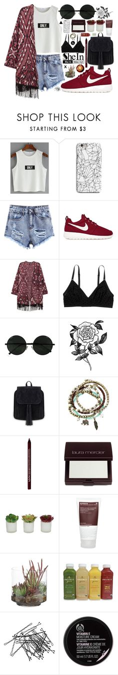 """no.61"" by azrajukic ❤ liked on Polyvore featuring INDIE HAIR, NIKE, Monki, Forever 21, Arizona, NYX, Laura Mercier, Threshold, Korres and NDI"