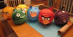 angry bird birthday party ideas | ... of free printable templates to create some birds (and a pig) to hang
