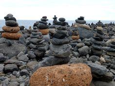stone piles.