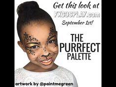 Simple cat/ cheetah makeup tutorial using the Purrfect Palette from FXcosplay.com #HalloweenMakeup #HalloweenMakeupIdea