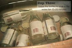 How to get labels off bottles easily