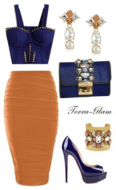 """""""Embellished"""" by terra-glam ❤ liked on Polyvore featuring Boohoo, GEDEBE and Kate Spade"""