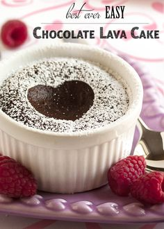 Best Ever Easy Chocolate Lava Cakes - What do you get when you make a bittersweet chocolate torte and leave the center molten? You get the BEST Chocolate Lava Cake I've ever had! So good! So rich! So intense! | justalittlebitofbacon.com