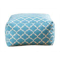 Remy Moroccan Lattice 27-inch Pouf Ottoman Color: Light Blue - http://delanico.com/ottomans/remy-moroccan-lattice-27inch-pouf-ottoman-color-light-blue-598187471/