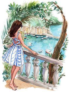 Adoro colecionar ilustrações de moda no Pinterest (segue aê!). E foi lá que conheci o trabalho da ilustradora americana Inslee Haynes. Com traços delicadíssimos, Islee faz pinturas lindas, cheias de cores e referências de moda. Inslee fundou sua marca e seu site em 2006, enquanto estudava na Univ