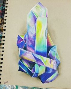 Colored Pencil Crystal