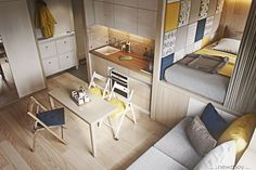 Studio Apartment Decoration & Design Ideas with The Advantages - tiny-cozy-apartment-yhou8