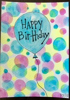 Birthday Pins, Balloon Birthday, Birthday Love, Birthday Board, Happy Birthday Funny, Happy Birthday Quotes, Happy Birthday Wishes, Birthday Greetings, Watercolor Birthday Cards