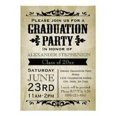 High school college graduation party invitation announcement vintage graduation party invitation filmwisefo