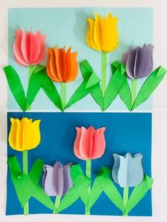 Easter Crafts For Kids, Craft Activities For Kids, Diy For Kids, Fun Arts And Crafts, Diy And Crafts, Paper Crafts, Diy Flowers, Paper Flowers, Diy Ostern