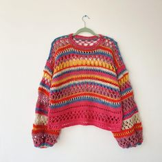 Beautiful Crochet, Knitwear, Pullover, Photo And Video, Outfits, Studio, Knitting, Instagram, Sweaters