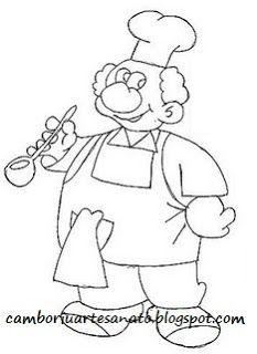 riscos de bules e xícaras   Riscos xícara Patchwork embutido - mestre cuca, bule, cozinheiro ...