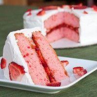 Aardbeientaart: ipv aardbei siroop 150gr gemixte aardbeien