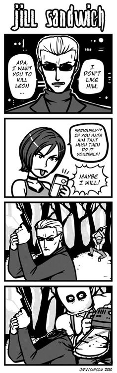 Jill Sandwich - Poor Wesker... I really hate Dr. Salvador and his crazy chainsaw wife, Bella + the sister