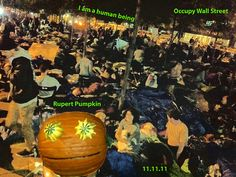 Rupert Pumpkin at Occupy Wall Street #OWS Happy Anniversary