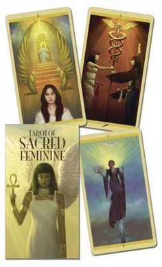 Tarot of Sacred Feminine by Floreana Nativo...like the look of this deck.