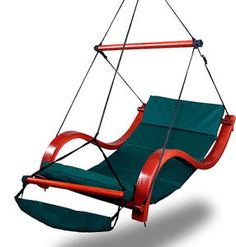 New Deluxe Green Hammock Air Chair Padded Hanging Lounge Chair Outdoor Patio